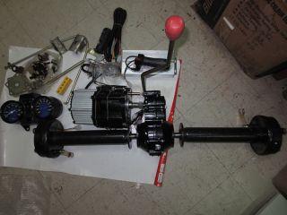 48V 500W 650W 800W Goods Carrier Trike Golf Cart Motor 5 Gearbox Rear Axle Kit