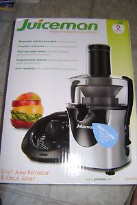 Juiceman JM8000S Juice Extractor Citrus Juicer 800W Built in Pulp Container