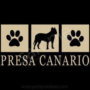 PRESA CANARIO Silhouette T Shirt Canary Dog Tee s 5XL