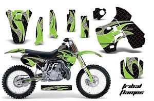 AMR Racing Dirt Bike Number Plate Background Deco Kit Kawasaki KX 500 88 04 TMGK