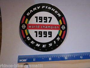 "3"" Gary Fisher World Champion Mountain Bike Bicycle Frame Ride Sticker Decal"