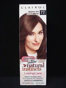 Clairol Natural Instincts Loving Care Hair Color Medium Ash Brown 77