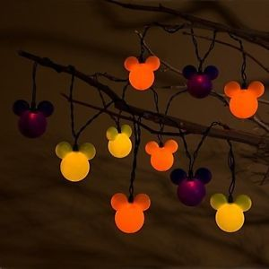 Disney Halloween Party Lights Mickey Mouse Head String Lights 10 Lights