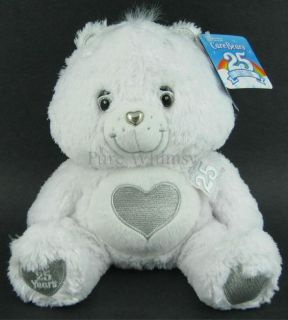 "Care Bear 12"" White 25th Anniversary Swarovski Crystals Tenderheart 2007 Silver"