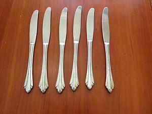 6 PC Reed Barton Rebacraft Sarajevo Select Stainless Steel Dinner Knives