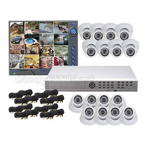 16 Channel Standalone DVR System Security Camera IR Color CCTV Surveillance CDM