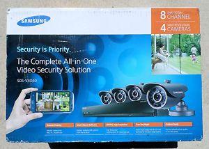 Samsung Sds V4040n 8 Channel Dvr Home Security System New