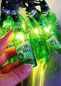 Rolling Rock Bottle Lights 9' Long String Light