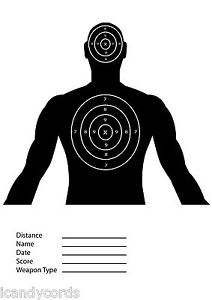 100 Torso Target Silhouette Sight in Paper Targets Shooting Rifle Pistol IC305