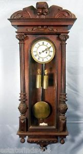Large Antique Vienna Regulator Wall Clock German Working Over 4 Feet Tall