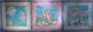 Sea Horse Tropical Fish Wallpaper Border Bathroom