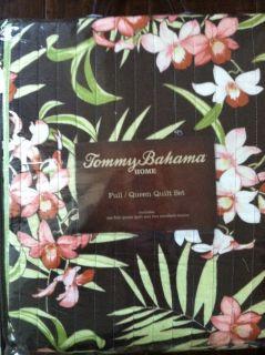 Tommy Bahama Island Del Sur Tropical Brown Full Queen Quilt Set Shams New NIP