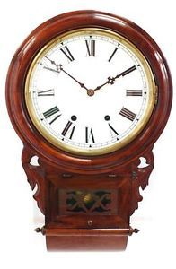 Beautiful Antique Drop Dial Kitchen Clock Striking American Wall Clock New Haven