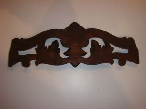 Clock Part Antique Wooden Hand Carved Wall Clock Topper