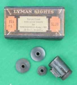 "Vintage Lyman Target Sights 17A ""A"" 1903 Springfield"