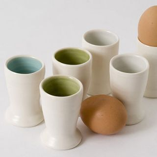 handmade egg cup by linda bloomfield