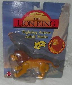 The Lion King Adult Simba Fighting Action Figure Disney