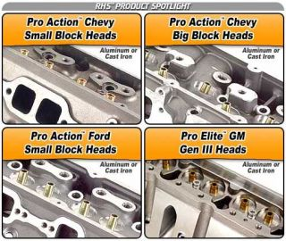 RHS Pro Action Racing Heads