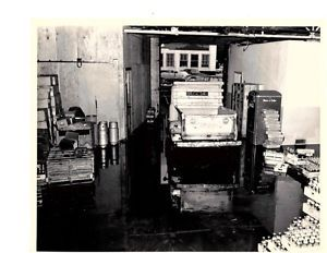 1950's Cleveland Coca Cola Bottling Co Warehouse Photo Truck Cooler Crates