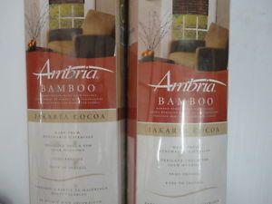 "Ambria Bamboo Window Roll Up Window Shade Set Jakarta Cocoa New 27"" w x72"" L DC"