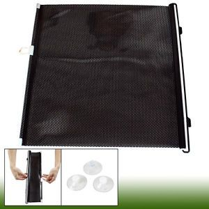 Auto Car Sides Window Vinyl Auto Roll Foldable Guard Sun Shade Black 45 x 125cm