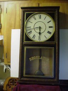 Vintage Waterbury Regulator Wall Clock