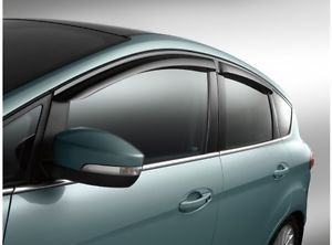 New 2013 Ford C Max Window Vent Shade Rain Visor Guards Self Adhesive Cmax