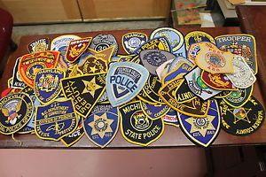 70 Vintage Law Enforcement Patches Police Corr Dept Sheriff Dept Fire Trooper
