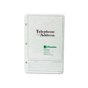 Wilson Jones Telephone Address Book Refill Pages 812R