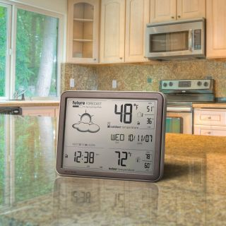 Chaney Instruments Wireless Weather Forecaster w Remote Sensor Atomic Clock