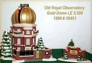 Old Royal Observatory Gold Dome Le 420 New Department Dept 56 Dickens Village
