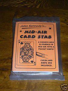 Mid Air Card Stab John Kennedy Discontinued RARE Magic