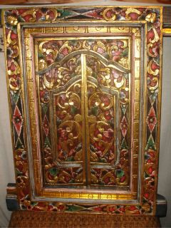 Traditional Balinese Window Shutters Hand Carved Wood Bali Art Architectural