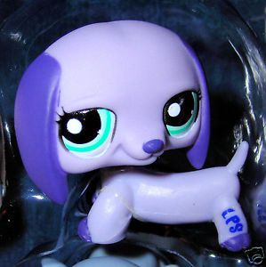 Littlest Pet Shop Lavender Dachshund Puppy Dog Purple Easter 1367 Fast Shipping