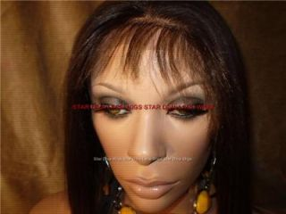 New Silky Light Yaki Straight High Heat OK Synthetic Front Lace Wig Color 4