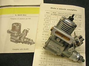 Near Mint Super Tigre G 20 Model Airplane Engine from Italy New No Box Very Nice