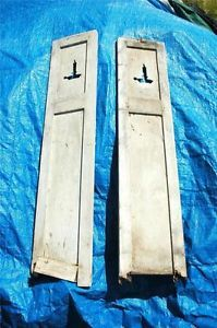 "Antique Vintage Early 1900s Rustic Wood Farm House Candle Shutters 53"" x 11"""