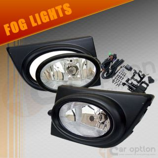 06 08 Honda Civic 4DR Sedan Clear Lens Fog Lights Lamps Kit OE Style Pair