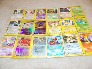 17 E Reader Series Pokemon Cards Lot Holo All RARE Venusaur Raichu Gengar