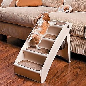 New Folding Nonskid Lightweight Pupstep Plus Small Dog Bed Ramp Pet Step Stairs