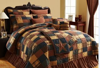 Victorian Heart Patriotic Patch 6pc Queen Quilt Bed Set