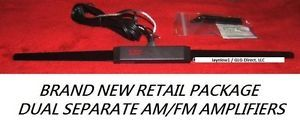 Hot Rod Car Auto Dual Amplified Am FM Hidden Antenna