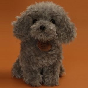 New Toy Poodle Gray Seat Japan Cute Doll Stuffed Dog