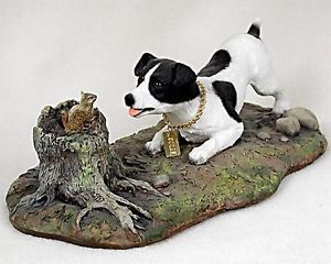 Jack Russell Terrier Statue Figurine Home Yard Decor Dog Products Dog Gifts