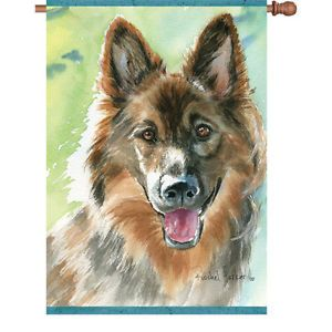 "28"" x 40"" Loyal German Shepherd Dog House Flag Double Sided"