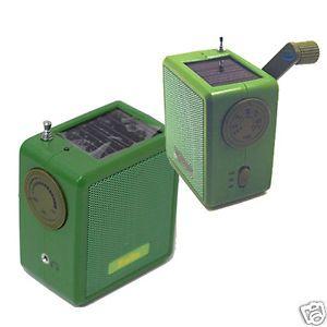 Kaito KA100 Mini Solar Dynamo Hand Crank Am FM Weather Band Emergency Radio