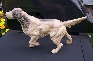 Vintage Hubley Cast Iron Doorstop Irish English Setter Dog Door Stop