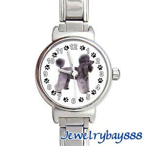 Poodle Dog Paw Photo Stainless Steel Italian Charms Bracelet Wrist Watch BC452