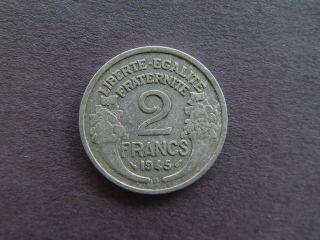 1945 France 2 Francs Aluminum Coin