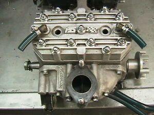PJs 550 Engine Cylinder and Head PJs Dual Carbs Performance jetski Reed Motor